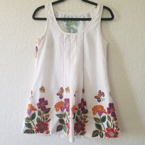 Desigual embroidered floral print Tunic top size L